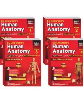 BD Chaurasia's Human Anatomy (Vol-1-4 Set)